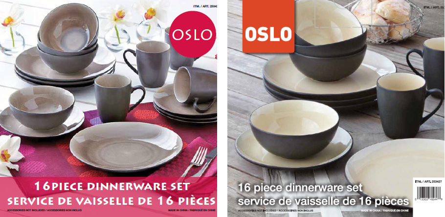 Over and Back OSLO Dinnerware Set